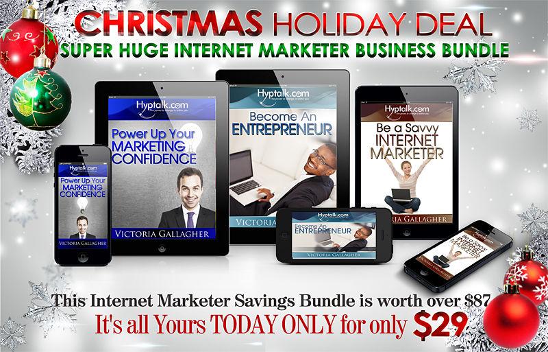 Christmas Holiday Deal - Super Huge Internet Marketer Savings Bundle